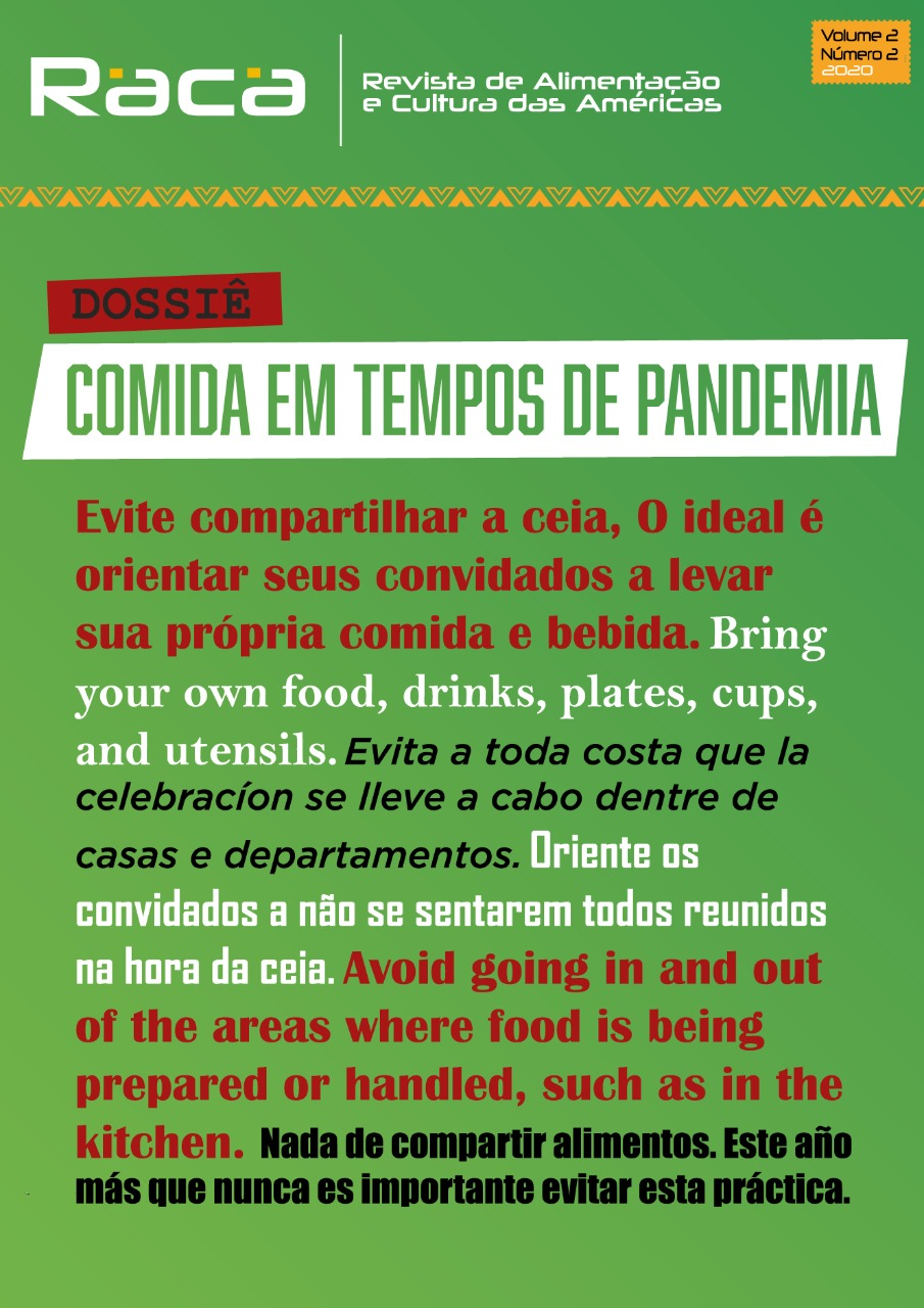 View Vol. 2 No. 2 (2020): (jul./dez. 2020) Food in times pandemic
